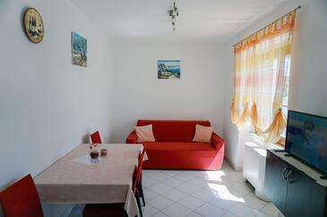 Lumbarda, Obývací pokoj v ubytování typu apartment, s klimatizací a WiFi.