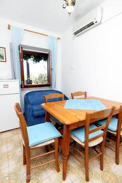 Lumbarda, Dining room in the apartment, dostupna klima i dopusteni kucni ljubimci.