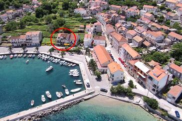 Račišće, Korčula, Objekt 9337 - Ubytovanie blízko mora s kamienkovou plážou.