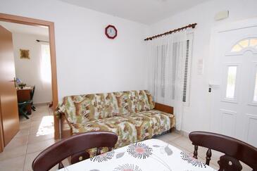 Vlašići, Living room in the apartment.
