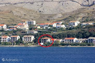 Pag, Pag, Property 9355 - Apartments near sea with pebble beach.