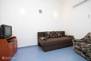 Gajac, Living room in the apartment, dostupna klima, dopusteni kucni ljubimci i WIFI.