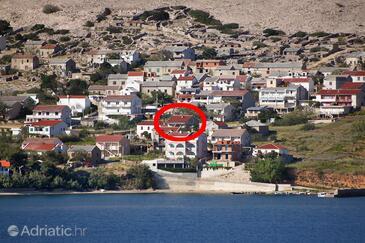 Zubovići, Pag, Objekt 9363 - Ubytování v blízkosti moře s písčitou pláží.