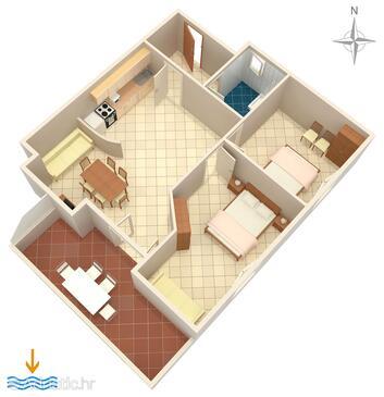 Zubovići, План в размещении типа apartment, Домашние животные допускаются и WiFi.