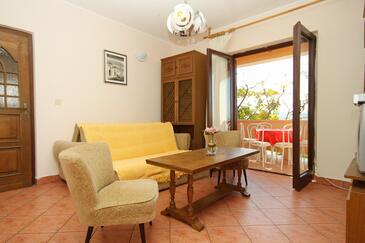 Vidalići, Dnevna soba v nastanitvi vrste apartment, dostopna klima in WiFi.