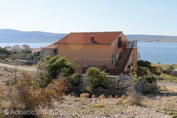 Vidalići, Pag, Objekt 9382 - Ubytování v blízkosti moře s oblázkovou pláží.