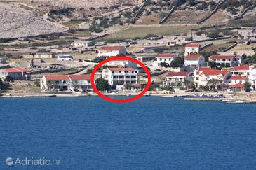 Kustići, Pag, Property 9390 - Apartments near sea with pebble beach.