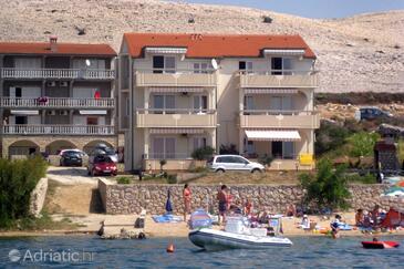 Vidalići, Pag, Property 9392 - Apartments near sea with pebble beach.