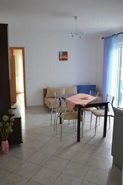 Stara Novalja, Ebédlő szállásegység típusa apartment, légkondicionálás elérhető, háziállat engedélyezve és WiFi .