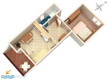 Seget Vranjica, Plan dans l'hébergement en type apartment, WiFi.