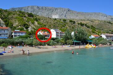 Duće, Omiš, Property 943 - Apartments near sea with sandy beach.