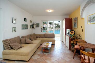 Mavarštica, Living room in the studio-apartment, WIFI.