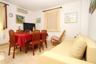Bušinci, Living room in the apartment, dostupna klima i dopusteni kucni ljubimci.