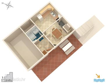 Vela Proversa, Plan in the house.
