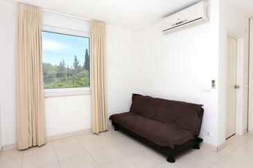Kneža, Obývacia izba v ubytovacej jednotke apartment, dostupna klima i WIFI.