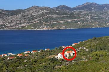 Kneža, Korčula, Objekt 9479 - Ubytovanie s kamienkovou plážou.