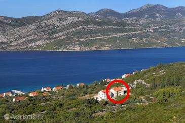 Kneža, Korčula, Property 9479 - Apartments with pebble beach.
