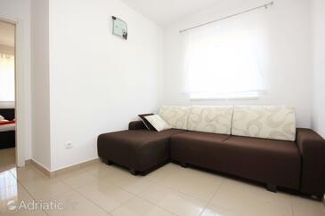 Orebić, Obývací pokoj v ubytování typu house, s klimatizací a WiFi.