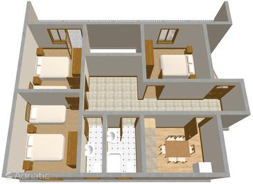 Sumpetar, План в размещении типа apartment, WiFi.