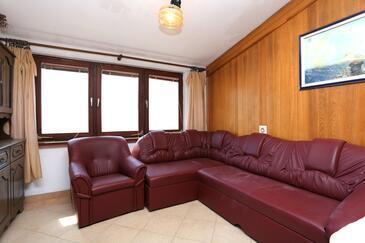 Makarska, Obývacia izba v ubytovacej jednotke apartment, dopusteni kucni ljubimci i WIFI.