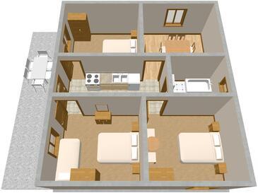 Sumpetar, Načrt v nastanitvi vrste apartment, WiFi.