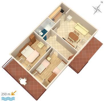 Marušići, Plan in the apartment.