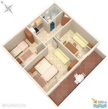 Marušići, План в размещении типа apartment.