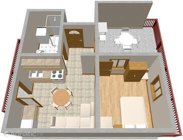 Žaborić, Plan in the apartment, WIFI.