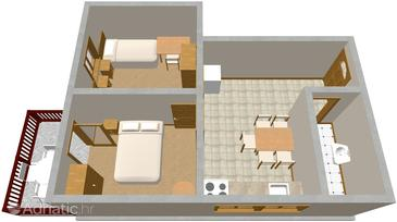 Zaton, Plan in the apartment.