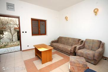 Marušići, Living room in the apartment, air condition available and WiFi.