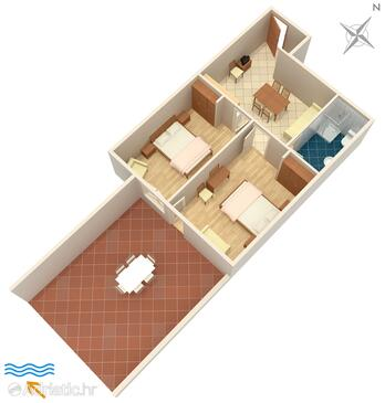 Rabac, Plan in the apartment, (pet friendly) and WiFi.