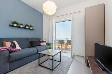 Rabac, Camera de zi în unitate de cazare tip apartment, animale de companie sunt acceptate şi WiFi.