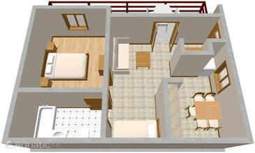 Pisak, Alaprajz szállásegység típusa apartment, WiFi .