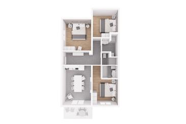 Rabac, plattegrond in the apartment, (pet friendly) en WiFi.