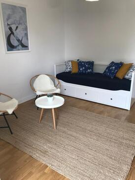 Dramalj, Obývací pokoj v ubytování typu apartment, s klimatizací a WiFi.