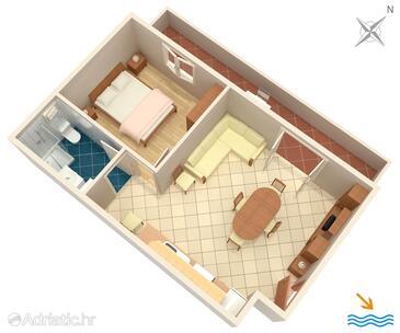 Basina, Plan in the apartment, WiFi.
