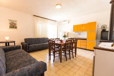 Zaraće (Gdinj), Dining room in the apartment, air condition available, (pet friendly) and WiFi.