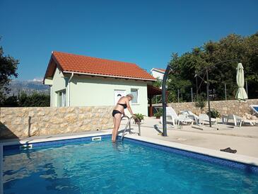 Vinjerac, Zadar, Hébergement 9689 - Maison vacances à proximité de la mer avec une plage de sables.