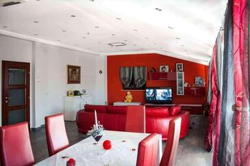 Zavalatica, Dnevna soba v nastanitvi vrste apartment, dostopna klima in WiFi.