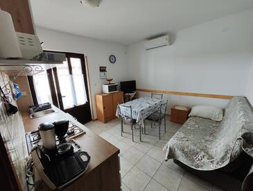 Sveti Ivan, Blagovaonica u smještaju tipa apartment, dostupna klima i WiFi.