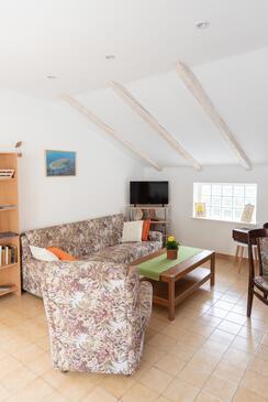 Žrnovska Banja, Obývací pokoj v ubytování typu apartment, domácí mazlíčci povoleni a WiFi.