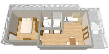 Lučica, Plan kwatery w zakwaterowaniu typu apartment, WIFI.