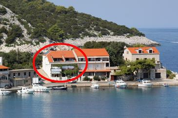 Zaklopatica, Lastovo, Alloggio 993 - Appartamenti affitto vicino al mare.