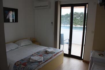 Zaklopatica, Ložnice v ubytování typu room, s klimatizací, domácí mazlíčci povoleni a WiFi.