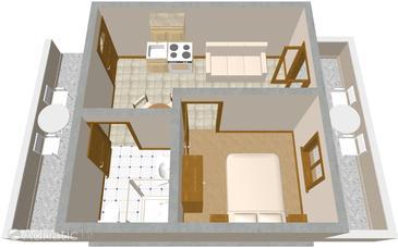 Zaklopatica, Plan in the apartment, WIFI.