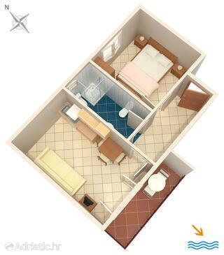 Pasadur, План в размещении типа apartment, Домашние животные допускаются и WiFi.
