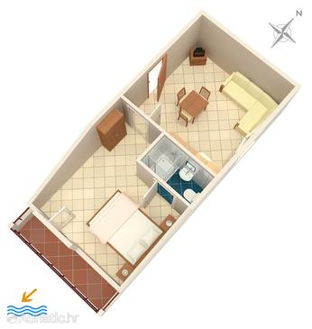 Pasadur, Plan in the apartment, dopusteni kucni ljubimci i WIFI.