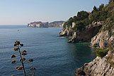 Panorama stad Dubrovnik vanaf zee