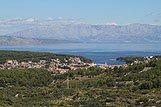 Panorama místa Jelsa, riviéra Hvar