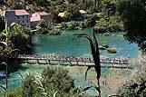 Pejsaž slapov Krke, riviera Krka